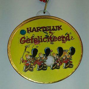 Medaille Hartelijk Gefeliciteerd bestellen bij ZZ-Snoeponline.nl