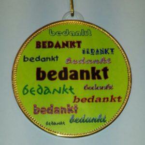 Medaille Bedankt bestellen bij ZZ-Snoeponline.nl