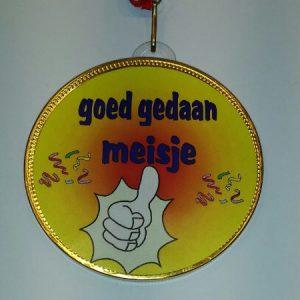 Medaille Goed gedaan Meisje bestellen bij ZZ-Snoeponline.nl