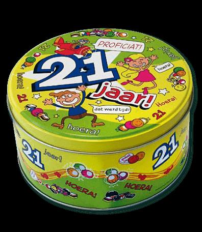 Snoeptrommel 21 Jaar bestellen bij ZZ-Snoeponline.nl