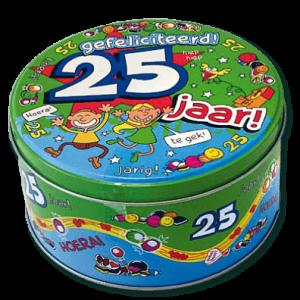 Snoeptrommel 25 Jaar bestellen bij ZZ-Snoeponline.nl