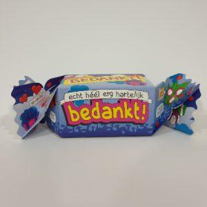 Toffee hartelijk bedankt bestellen bij ZZ-Snoeponline.nl