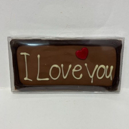 I Love You chocolade reep